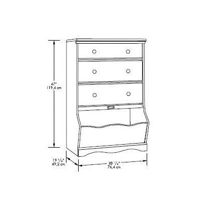 Sauder Pogo 3 Drawer Chest