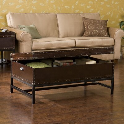 wildon home southport trunk coffee table with lift top reviews wayfair. Black Bedroom Furniture Sets. Home Design Ideas