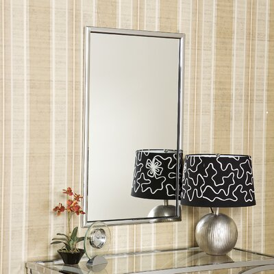 Wildon Home ® Logan Wall Mirror in Chrome