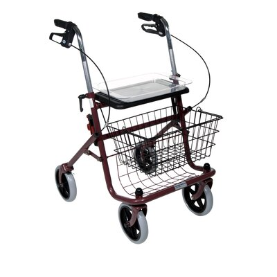 Deluxe Winnie Nannie Rollator Walker with Loop Locks and Plastic Tray