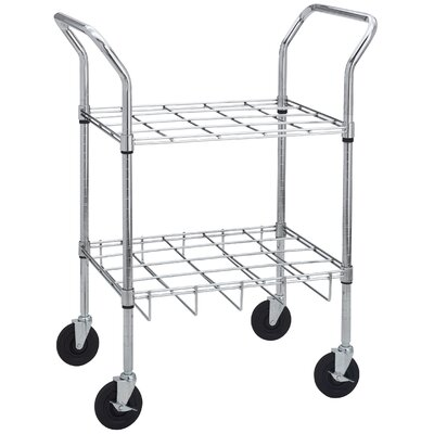 Drive Medical Oxygen Cylinder Cart in Chrome for E, D, C or M9 Cylinders