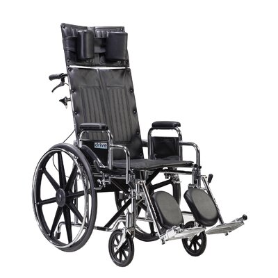 Sentra Reclining Wheelchair in Black