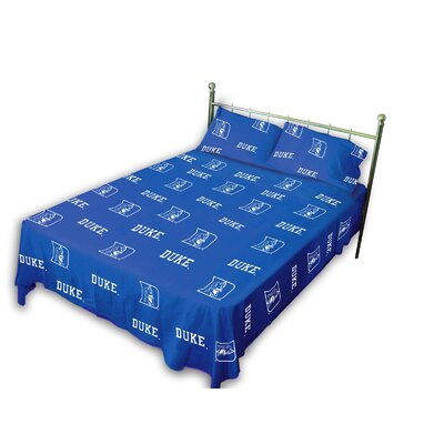 College Covers NCAA Printed Sheet Set with Team Colored Sheets