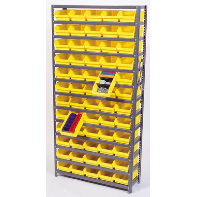 "Quantum Storage Economy Shelf Bin Storage Units (75"" H  x 36"" W x 12"" D)"