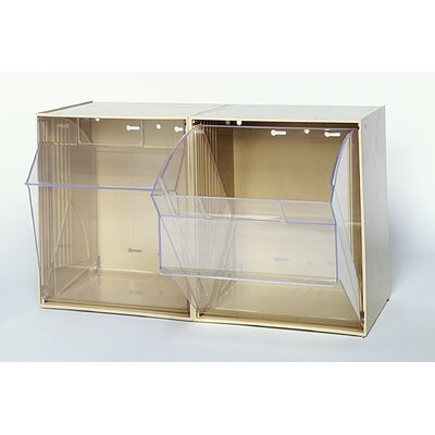 Quantum Storage Clear Tip Out Bins (2 Compartments)
