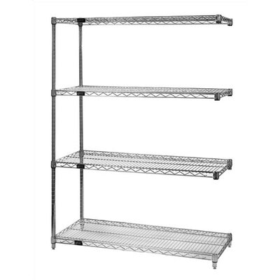 Quantum Storage Large 63&quot; Q-Stor Chrome Wire Shelving Add-On Unit