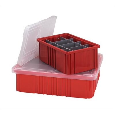 Quantum Storage Dividable Grid Storage Container Clear Covers 10 Piece Set