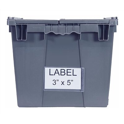 Quantum Storage Attached Top Storage Container Clear Label Holder (Set of 24)