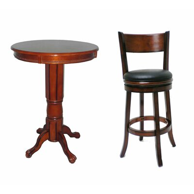 Boraam Industries Inc Palmetto 3 Piece Pub Set in Brandy
