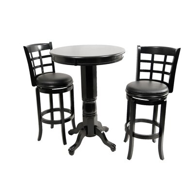 Boraam Industries Inc Kyoto 3 Piece Pub Set in Black