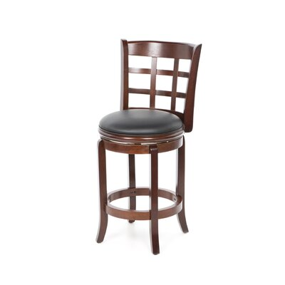 "Boraam Industries Inc 24"" Kyoto Swivel Stool in LT Cherry"