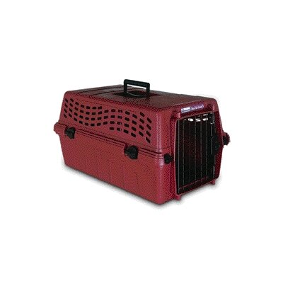 Deluxe Vari-Kennel Jr Medium Pet Carrier in Pomegranate