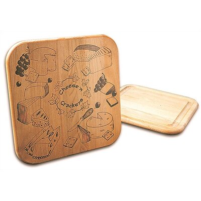 Cheese & Crackers Board with Reverse Groove
