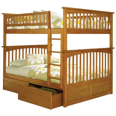 Atlantic Furniture Columbia Bunk Bed with Flat Panel Drawers