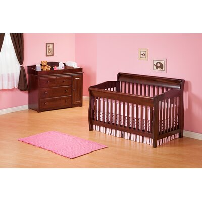 Atlantic Furniture Versailles Convertible Crib Set