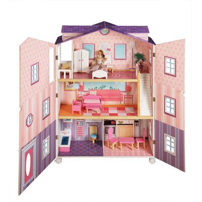 Teamson Kids Doll House New York Mansion with Furniture
