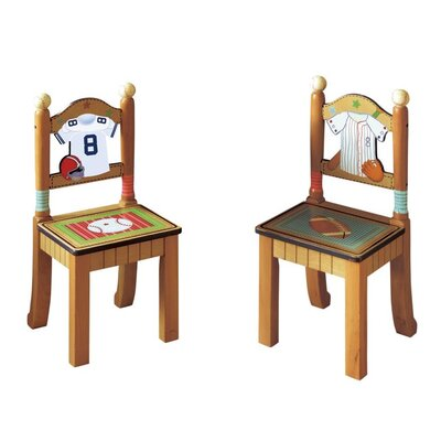 Little Sports Fan Kid's Desk Chairs (Set of 2)