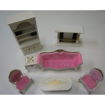 Teamson Kids Seven Pieces Living Room Set for Doll House