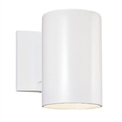 "Sea Gull Lighting 9""  White Outdoor Wall Sconce"