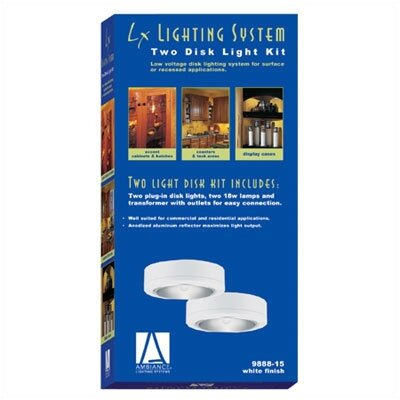 Ambiance Plug-In Disk Lighting Kit in White