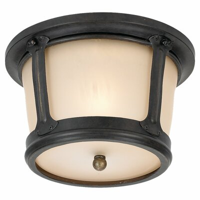Sea Gull Lighting Cape May 1 Light Outdoor Flush Mount