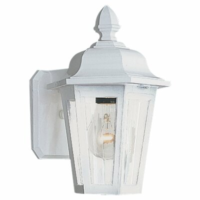Sea Gull Lighting Classic Cast Aluminum  Outdoor Wall Lantern in White