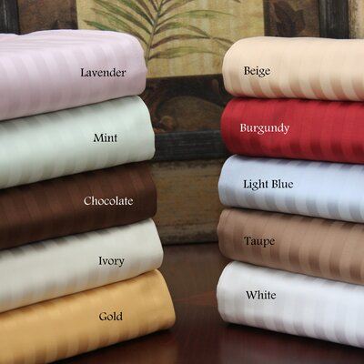 650 Thread Count Egyptian Cotton Stripe Waterbed Sheet Set