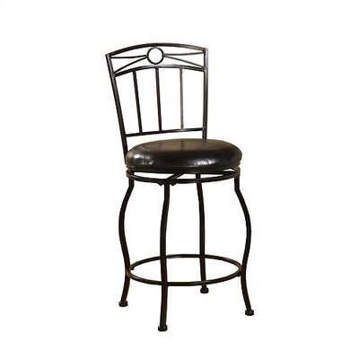 Linon 24&quot; Circle Top Metal Counter Stool