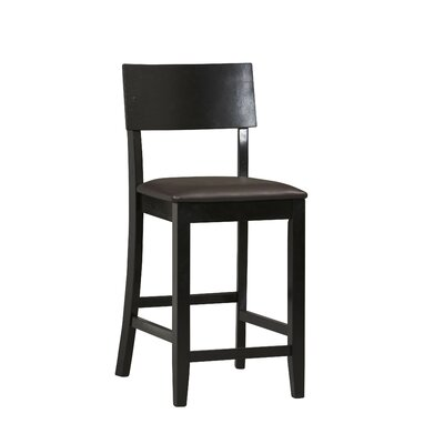 Linon Torino Contemporary Counter Stool in Black