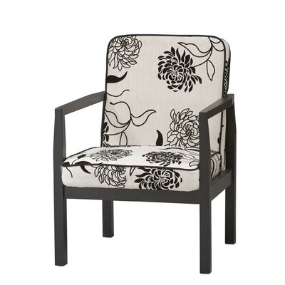 Linon Arista Fabric Arm Chair