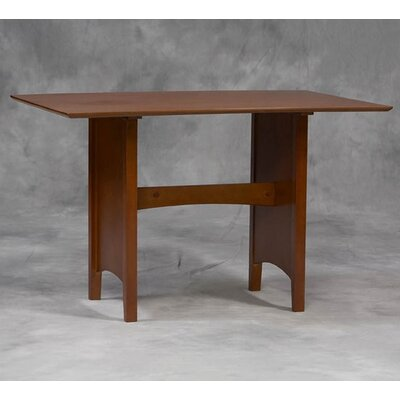 Linon Microfiber Nook Table in Cherry