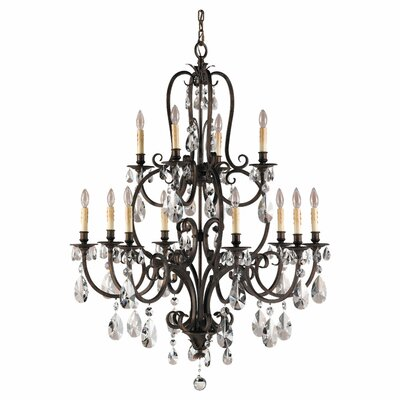 Feiss Salon Ma Maison 12 Light Chandelier