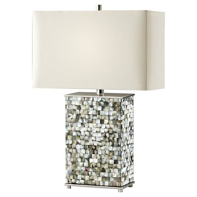 Feiss Aria One Light Table Lamp in Polished Nickel