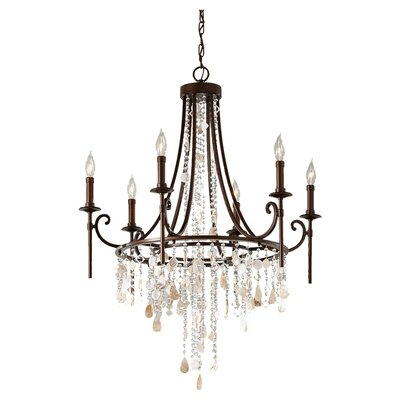 Feiss Cascade 6 Light Chandelier