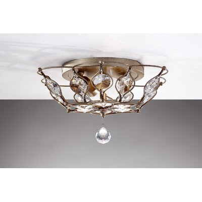 Feiss Leila 2 Light Flush Mount