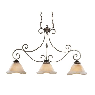 Tuscan Villa 3 Light Kitchen Island Pendant