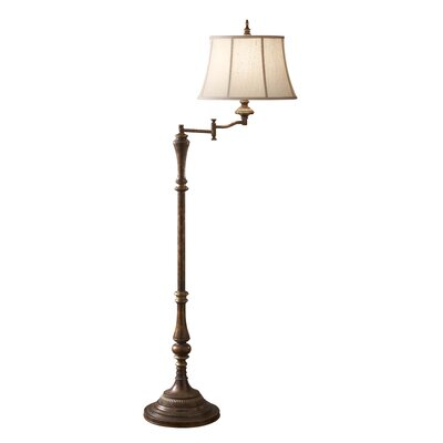 Feiss Gibson Swing Arm 1 Light Floor Lamp