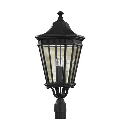 "Feiss Cotswold Lane 3 Light 12"" Outdoor Post Lantern"