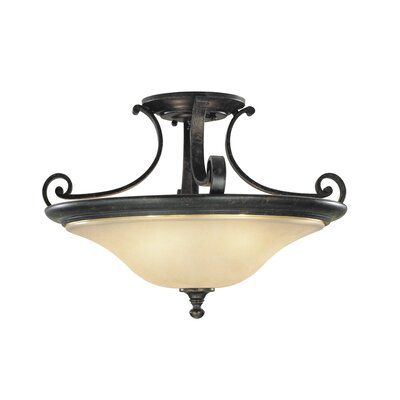Feiss Cervantes 2 Light Semi Flush Mount