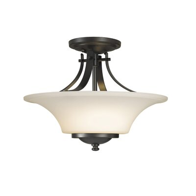 Feiss Barrington Semi Flush Mount in Oil Rubbed Bronze