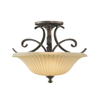 Feiss Somerset 2 Light Semi Flush Mount
