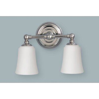 Feiss Huguenot Lake Two Light Bath Vanity in Polished Nickel