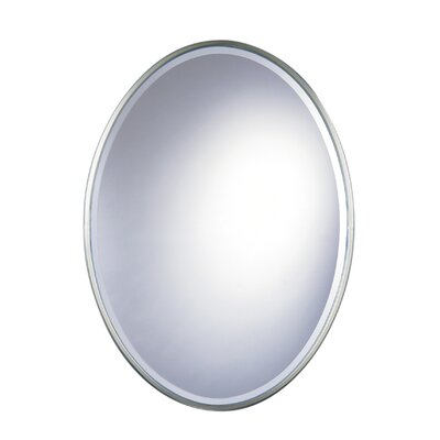 Feiss Westminster Oval Mirror in Pewter