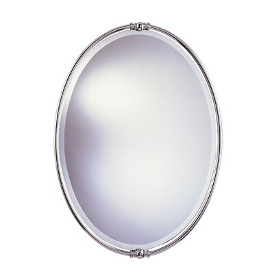 New London Beveled Mirror in Polished Nickel