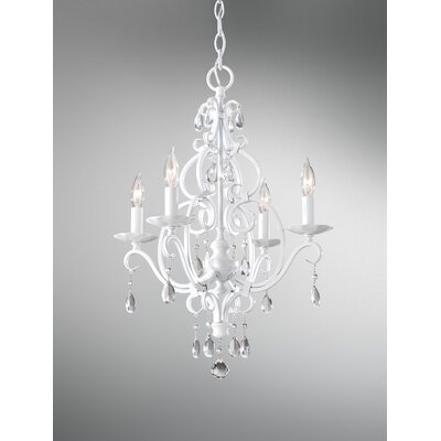 Chateau Blanc 4 Light Mini Chandelier