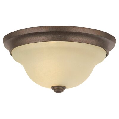 Feiss Morningside  Flush Mount in Brushed Steel