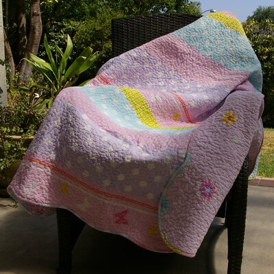 Polka Dot Stripe Cotton Throw