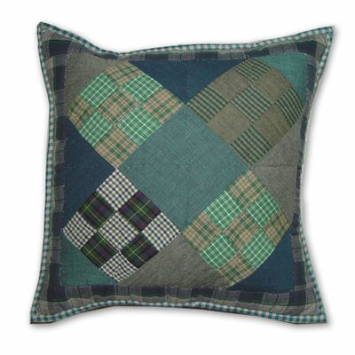Patch Magic Chambray Nine Patch Toss Pillow
