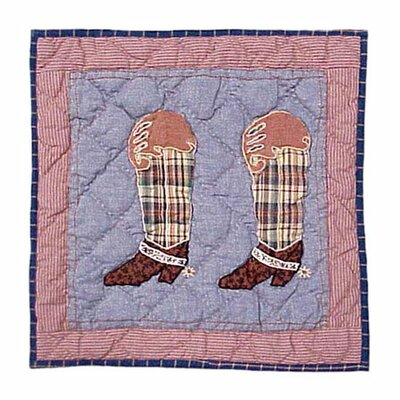 Patch Magic Cowboy Boot Toss Pillow