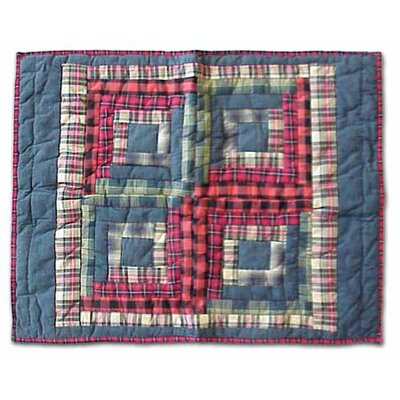 Red Log Cabin Standard Pillow Sham